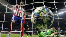 Soccer Football - Champions League - Group D - Atletico Madrid v Bayer Leverkusen - Wanda Metropolitano, Madrid, Spain - October 22, 2019 Atletico Madrid's Alvaro Morata (not pictured) scores their first goal REUTERS/Sergio Perez