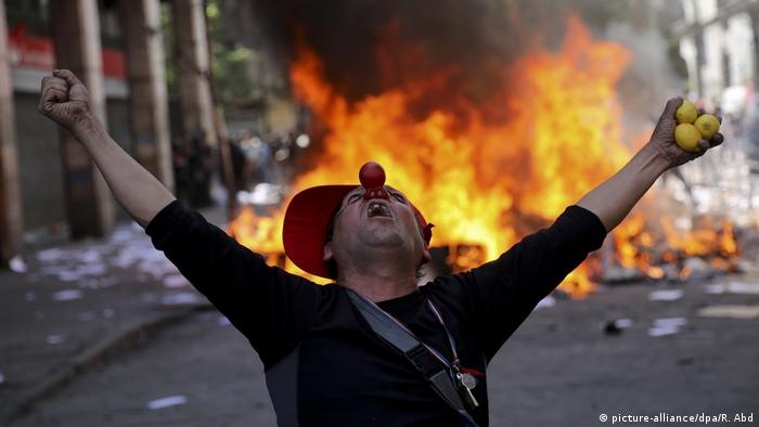 Proteste in Chile BdTD (picture-alliance/dpa/R. Abd)