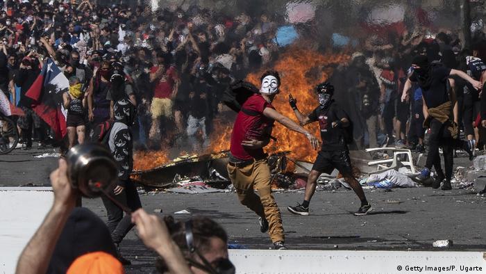 Resultado de imagen de revueltas en chile