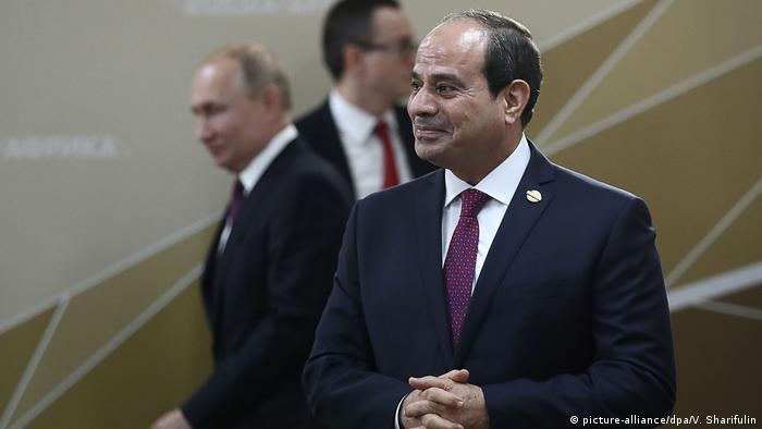 Der russische und der ägyptische Präsident bei Ihrem Gipfeltreffen in Sotschi