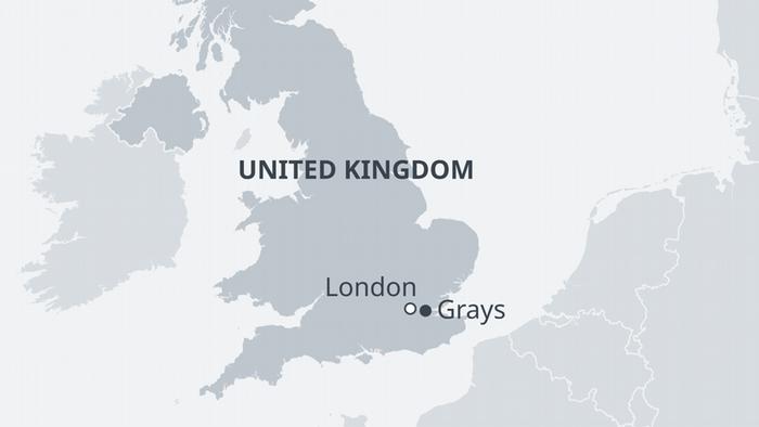 Karte Großbritannien Grays EN