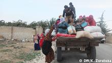 A group of refugees on a truck