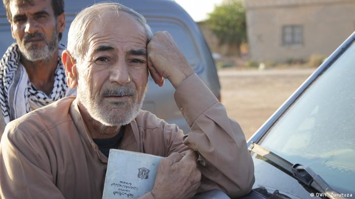 Пожилой беженец в Телль-Тамере