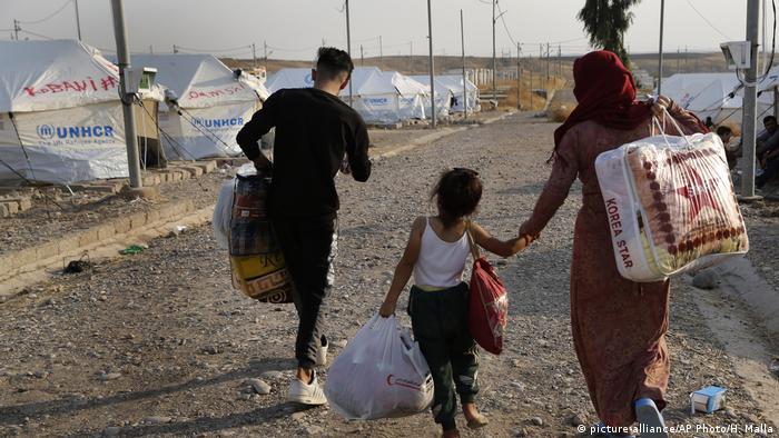 Mamia ya wahamiaji kutoka Syria wamekimbilia Iraq kufuatia machafuko nchini Syria (Picha ya maktaba)