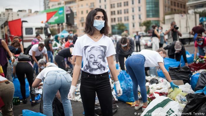 Libanon Beirut Proteste (picture-alliance/Zuma/ Le Pictorium/B. Tarabey)