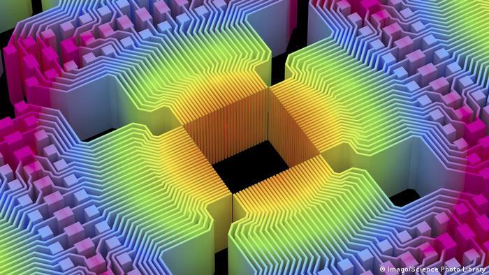 Quantum Computer Grafik Symbolbild