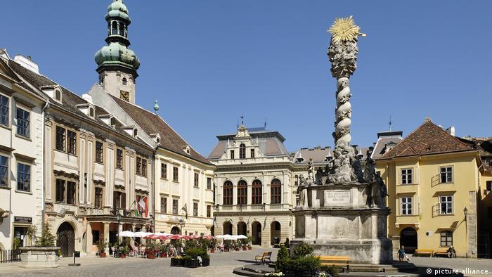 Stadtplatz Föter mit Feuerwehrturm (picture-alliance)