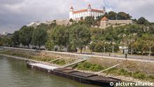 Blick zur Burg Bratislava, Slowakei