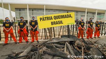 Protesto do Greenpeace em Brasília