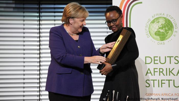 Bundeskanzlerin Merkel bei der Verleihung des Deutschen Afrika-Preises 2019