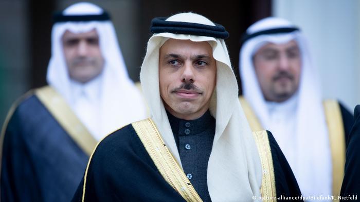 وزير الخارجية السعودي، الأمير فيصل بن فرحان آل سعود في زيارة إلى ألمانيا نهاية مارس/ آذار 2019