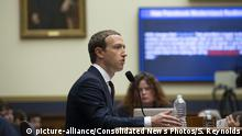 USA Mark Zuckerberg in Capitol Hill