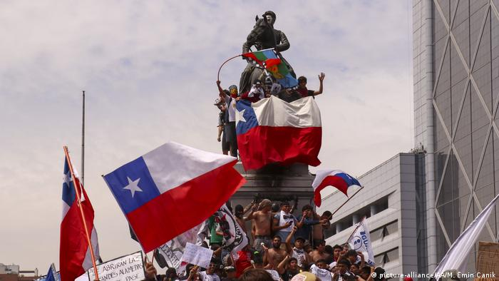 Protestas en Santiago de Chile. (23.10.2019).
