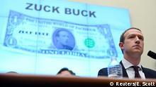 Washington Facebook CEO Zuckerberg zu Kryptowährung Libra