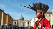 23.10.19 Brasilianischer Indigene Francisco Chagas während der Amazonas-Synode Francisco Chagas Apurinã