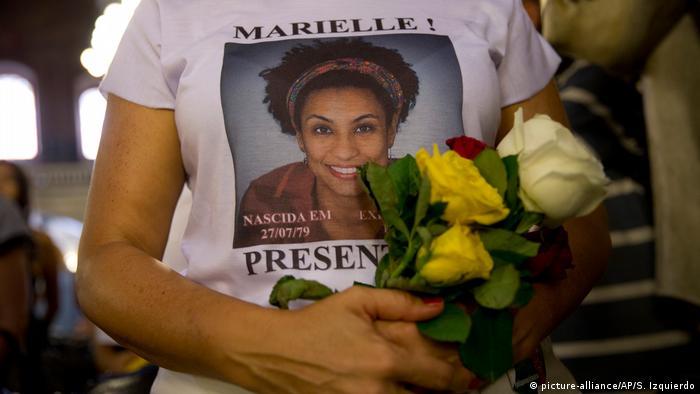 Camiseta com foto de Marielle Franco