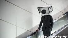 Berlin Bahnhof Südkreuz Protest gegen Gesichtserkennung
