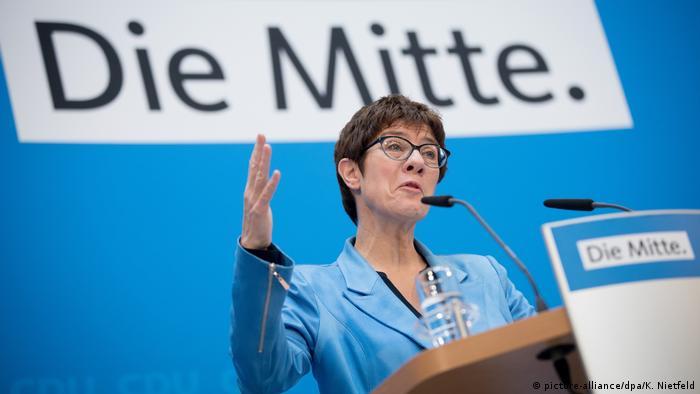 CDU leader Annegret Kramp-Karrenbauer