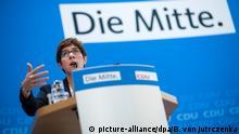 CDU Motto Die Mitte Annegret Kramp-Karrenbauer
