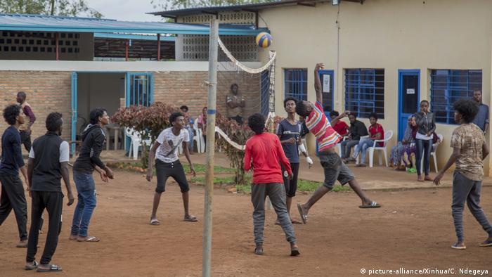 Ruanda Transitzentrum Gashora mit Flüchtlingen aus Libyen