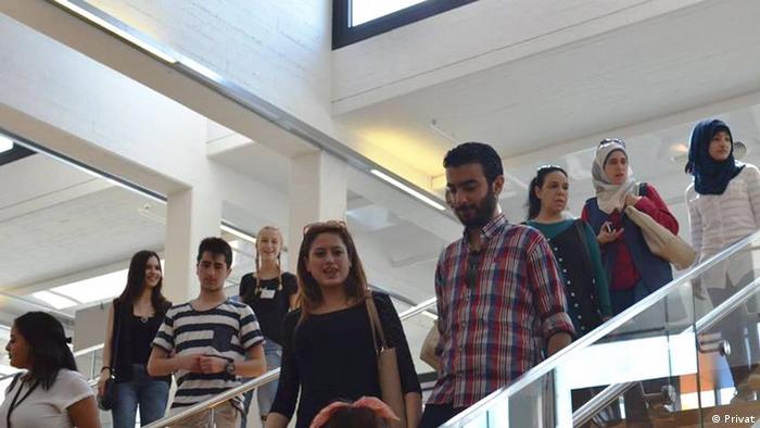 Begegnung mit syrischen Flüchtlingen in Deutschland