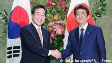 Japan Tokio | Japans Premierminister Shinzo Abe trifft Südkoreas Premierminister Lee Nak-yon