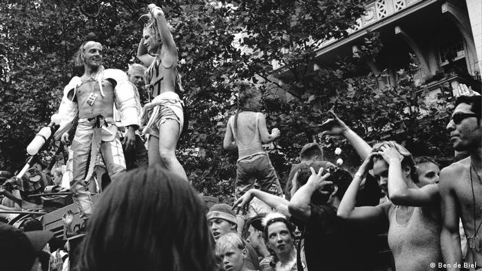 'Loveparade Ku'damm, 1992,' photo from the C/O Berlin exhibition 'No Photos on the Dance Floor! Berlin 1989-Today'