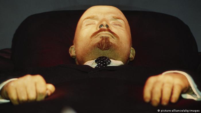 The embalmed body of Lenin