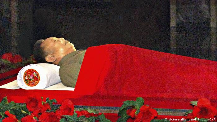 In this Dec. 20, 2011 file photo, the body of North Korean leader Kim Jong Il is laid in the Kumsusan Memorial Palace in Pyongyang, North Korea