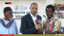 Oktober 2019, Südafrika, Nearly 24 hours after Gambia's Truth Commission issued a statement condemning Victim's re-victimization, the commission has come under heavy criticism for presiding over reconciliation between Edward Signateh, a former Gambia's defense minister and Sana Sabally (former Vice Chairman of Yahya Jammeh's military council). Sana and Edward organized a coup in 1994. After the coup, Edward pick Jammeh to lead the country, which did not go well with Sana. A few months after the coup Yahya Jammeh accused Sana of plotting to overthrow his government .Sana was arrested, charged with treason, convicted and served nine years in prison. Testifying before the commission on Monday, Edward who later succeeded Sana and became Jammeh's number two, confessed that Sana never planned a coup. The charges were falsely executed and Jammeh lied to him. Edward said he contributed to the pain and suffering Sana and his family went through. The two men then reconciled and forgave each other. Hours later, Gambians turned to social media expressing their disappointments; claiming the two men oppressed Gambians and should be brought to justice. Officials of the commission have reacted to the public outcry. Bildrechte-Erklärung: I Essa Jallow, Communications specialist at TRRC, hereby authorise you and the medium you represent (DW) to use all pictures sent to you from TRRC in all your publications without restriction. Yours Sincerely Essa Jallow Communications Specialist, TRRC