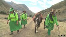DW Sendung Global 3000 Trägerinnen Machu Picchu