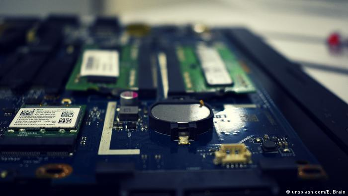 A close up of the inside of a computer