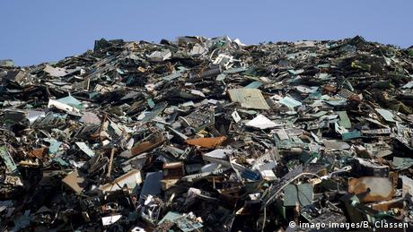 A mound of e-waste