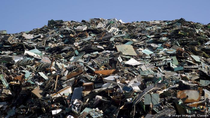 A mountain of electric waste in Hamburg