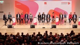 Участники первого тура выборов руководителей СДПГ