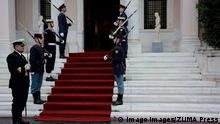 March 15, 2019 - Athens, Greece - Contingent of honour are seen standing alert as they wait for the arrival of President of Bolivia, Evo Morales, at Maximos Mansion Athens Greece PUBLICATIONxINxGERxSUIxAUTxONLY - ZUMAs197 20190315_zaa_s197_004 Copyright: xGiorgosxZachosx