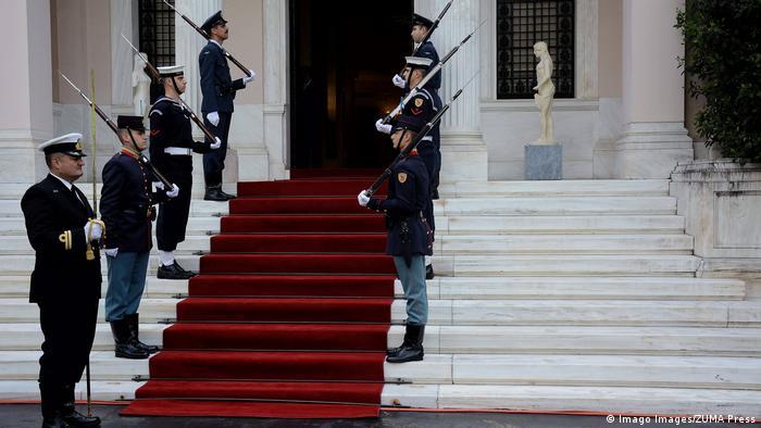 Griechenland Athen | Eingang zur Villa Maximos (Imago Images/ZUMA Press)