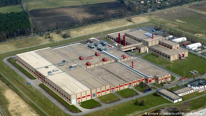 Aerial shot of a uranianum enrichment plant in Gronau
