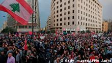 Libanon | Demonstranten in Beirut