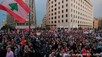 تظاهرات ضد دولتی علیه فساد و افزایش مالیات در بیروت؛ ۲۴ اکتبر