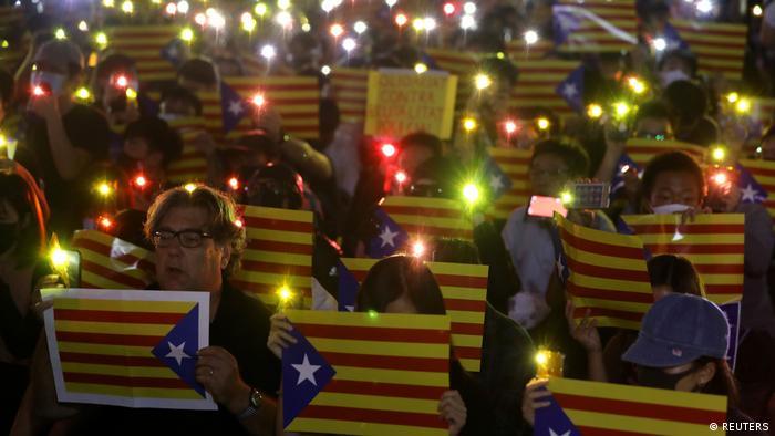 Hongkong Proteste Katalonien Solidarität