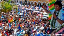 Bolivien Präsidentschaftswahlen Evo Morales Anhänger