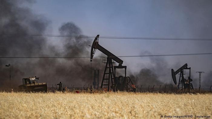 Suriye'nin Haseke bölgesindeki petrol üretim tesisleri