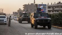 Syrien Amuda russische Truppen patrouillieren im Norden
