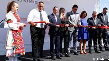 Der bulgarische Ministerpräsident Bojko Borissov eröffnet neue Fabrik in Petritch