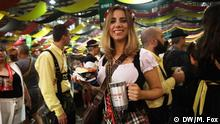 24.Oktober 2019, Oktoberfest in Brasilien, Southern Brazil is home to the largest Oktoberfest in the world after Munich. While the Bavarian original wrapped up at the beginning of October the Brazilian offshoot is running the whole month. It's less surprising than you might think, considering the very large population of German descendants in the region. Redakteurin: Anne-Sophie Brändlin