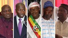 Kombobild Präsidentschaftskandidaten Guinea Bissau