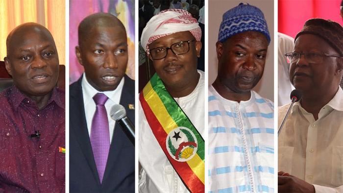 Principais candidatos à Presidência da Guiné-Bissau