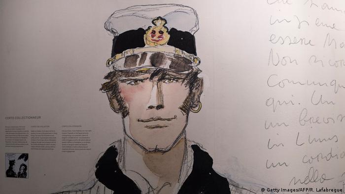 Corto Maltés, el famoso personaje de historieta del dibujante italiano Hugo Pratt.