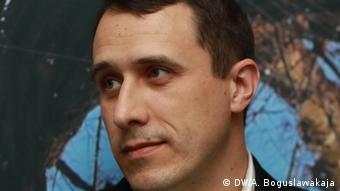 Белорусский оппозиционный политик Павел Северинец в Минске
